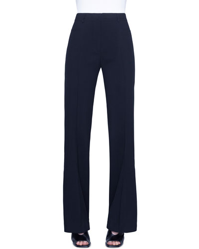 Mikka Tricotine Straight-Leg Pants
