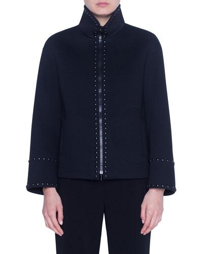 Bonded Neoprene Boxy Jacket