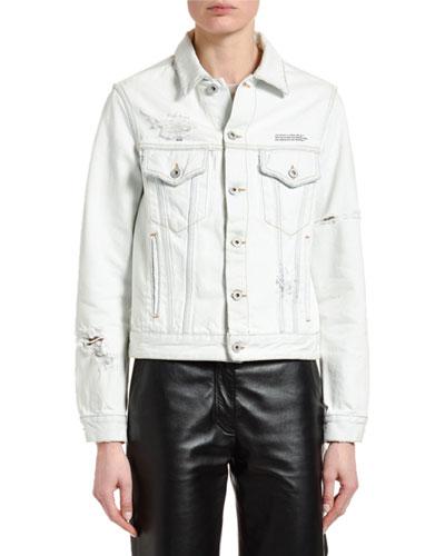 Classic Distressed Denim Jacket