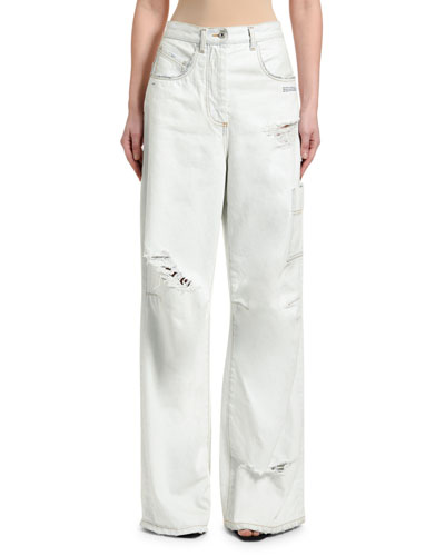 High-Rise Oversize Ripped Tomboy Jeans