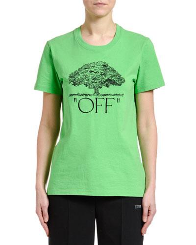 Short-Sleeve Tree Graphic Casual Tee