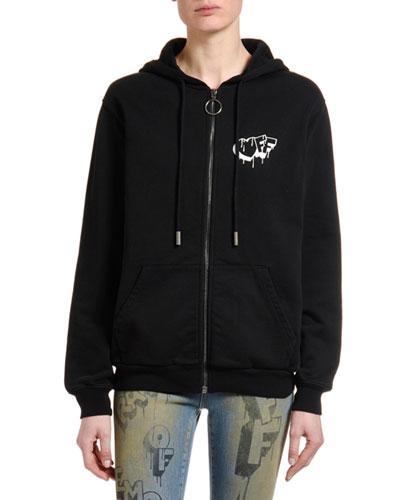 Logo Graphic Zip-Front Hoodie Jacket