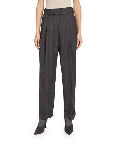 Pleated Cuffed Pants