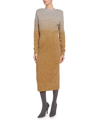 Shimmer Ombre Sheath Dress