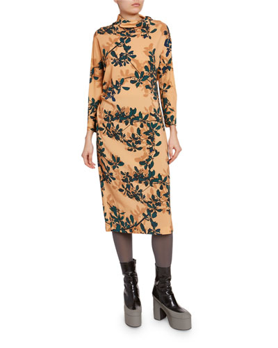 cb381d7d8371 Three Quarter Sleeve Cocktail Dress | Neiman Marcus