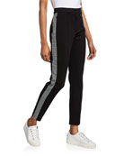 Escada Sport Tamianne Houndstooth Tuxedo-Striped Pants