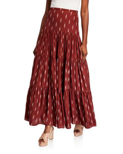 Canoe Print Maxi Dress