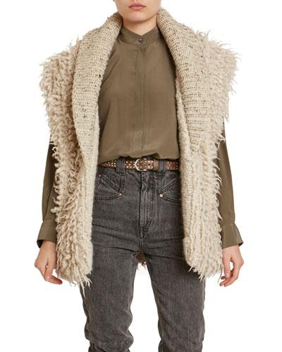 Layden Curly-Wool/Alpaca Sweater Vest