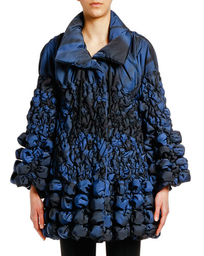 Degrade Bubble-Quilted Puffer Coat