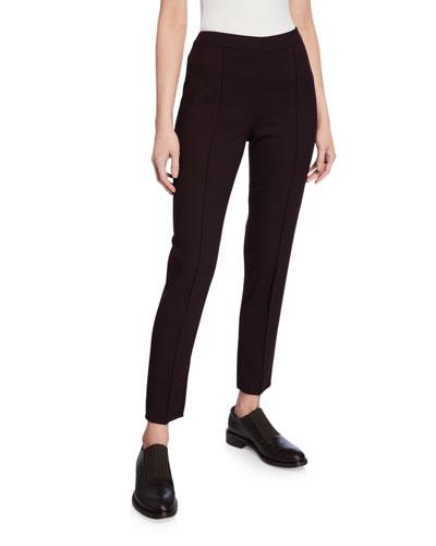 Mirel Wool-Stretch Ankle Pants