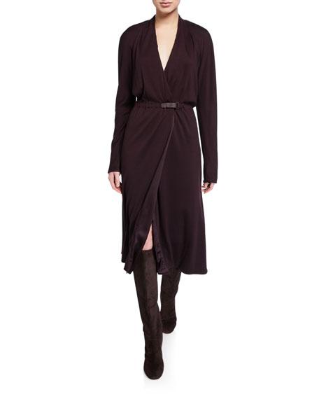 Loro Piana Jane Cashmere-Jersey Wrap Dress