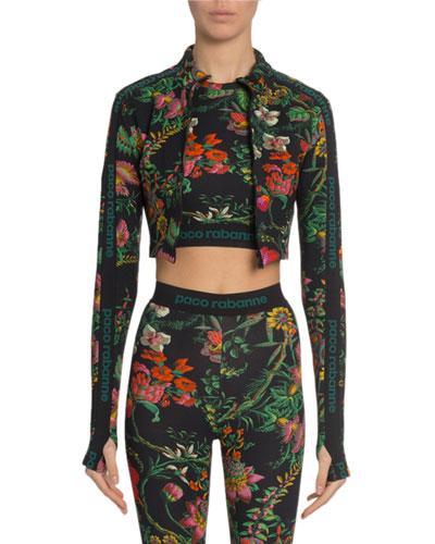 Floral-Print Crop Top