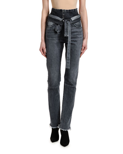 Corseted High-Rise Skinny Jeans