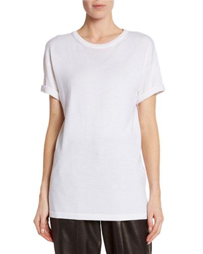 Cashmere-Silk Short-Sleeve T-Shirt