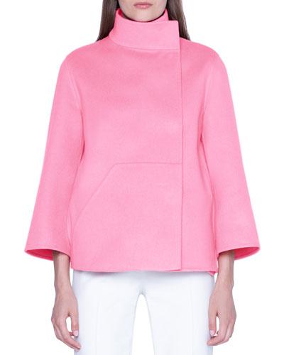 Cashmere Asymmetric Swing-Back Jacket