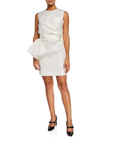 Organza Crewneck Dress