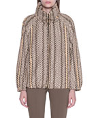Akris Gallen Print Hooded Parka Jacket and Matching