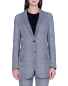 Akris Oversized Prince-of-Wale Mesnwear Jacket and Matching Items