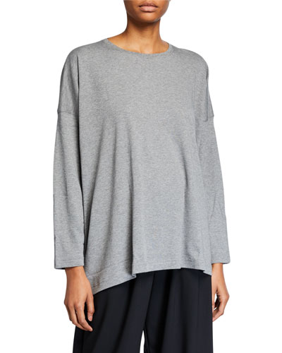 Long-Sleeve T-Shirt with Longer Back