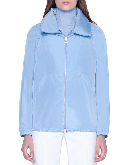Akris Silk Taffeta Short Parka