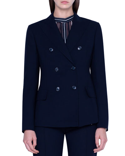 Peak Lapel Six-Button Jacket