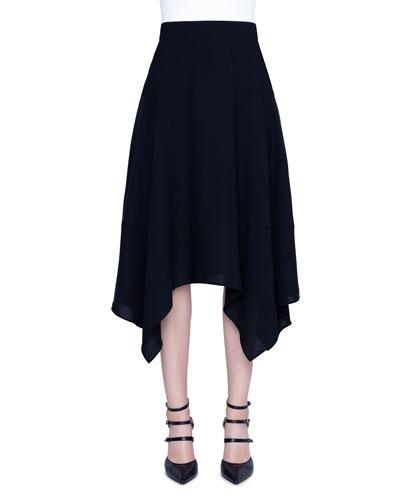 Wool-Blend Handkerchief  Skirt