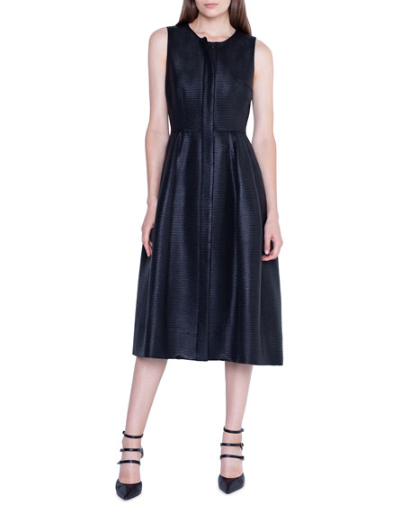 Akris Sleeveless Placket-Front Dress