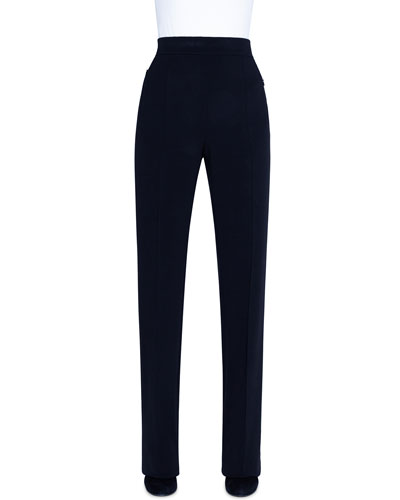 Ladies Linen Trousers 28L Womens Pants With Elasticated Waist And Pockets