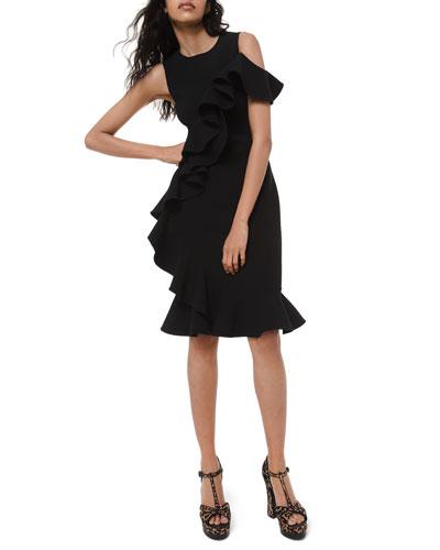Stretch Wool Sheath Dress