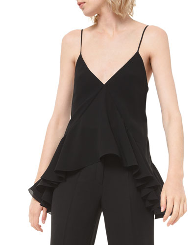 Silk Georgette Ruffled Camisole