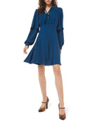 Michael Kors Collection Draped Sleeve Flare Dress