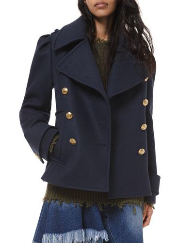 Wool Military Pea Coat