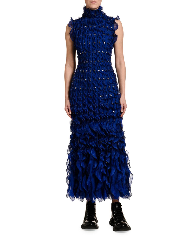 Alexander Mcqueen Dresses SLEEVELESS RUFFLED BODYCON DRESS
