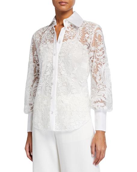 Marchesa Lace Shirt