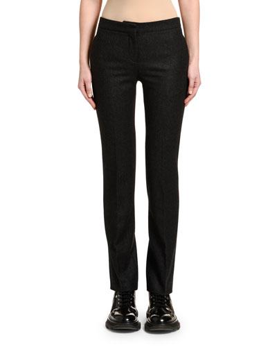 Men's-Cut Oxbridge Flannel Tuxedo Pants