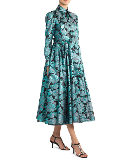 Erdem Teresina Long-Sleeve Shirtdress