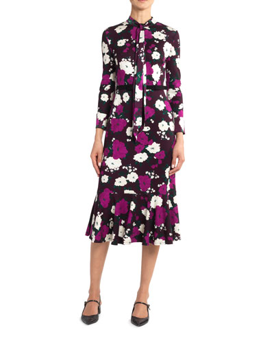 Hilma Bow Flounce Dress