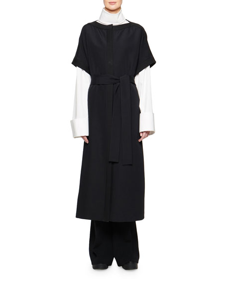 THE ROW Miriam Short-Sleeve Wrap Front Trench Coat