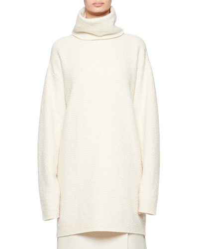 Gene Cashmere/Silk Funnel-Neck Sweater