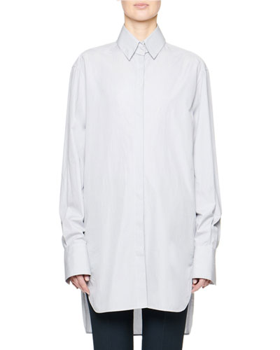 Pedro Cotton Button-Front Long Tunic