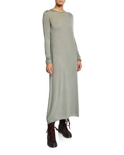 Cashmere Long-Sleeve Maxi Dress