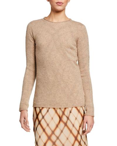 Cashmere-Silk Plush Loose Open Front Cardigan
