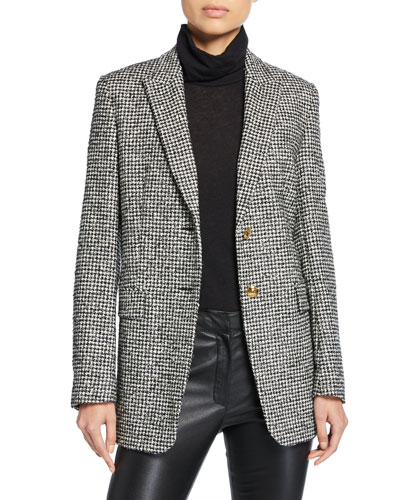 Beek Mini Houndstooth Tweed Jacket