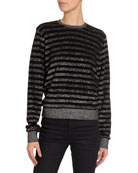 Saint Laurent Striped Crewneck Sweater and Matching Items