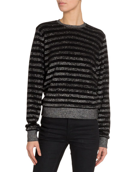 Saint Laurent Striped Crewneck Sweater