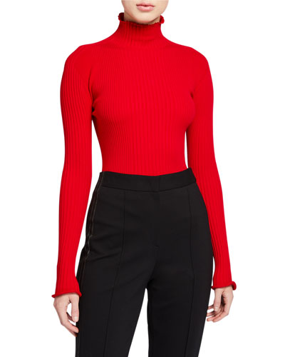 Sashada Frill Turtleneck Sweater