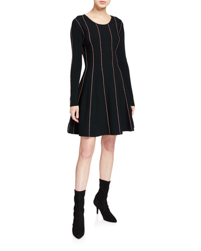 Doja Long-Sleeve Striped Dress