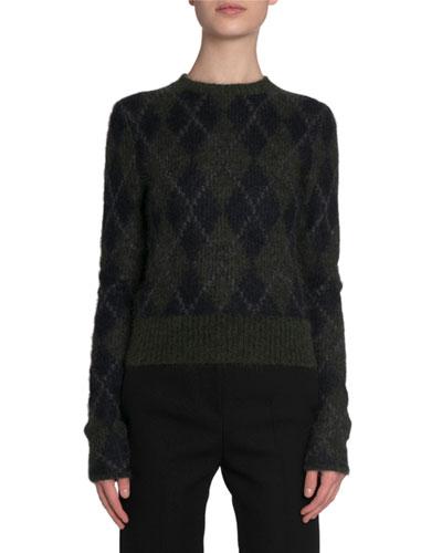 Brushed Mohair Argyle Sweater