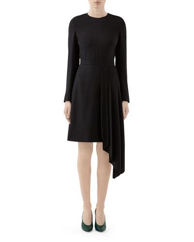 Matte Satin Asymmetric Dress