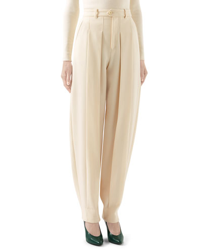 Wool Cover Tapered Leg Pants